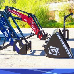Универсальный быстросъемный КУН погрузчик Grand Max Evolution ковш зерновой и крюк для биг бегов