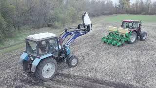 КУН погрузчик фронтальный Grand Max на трактор МТЗ с крюком для биг бегов