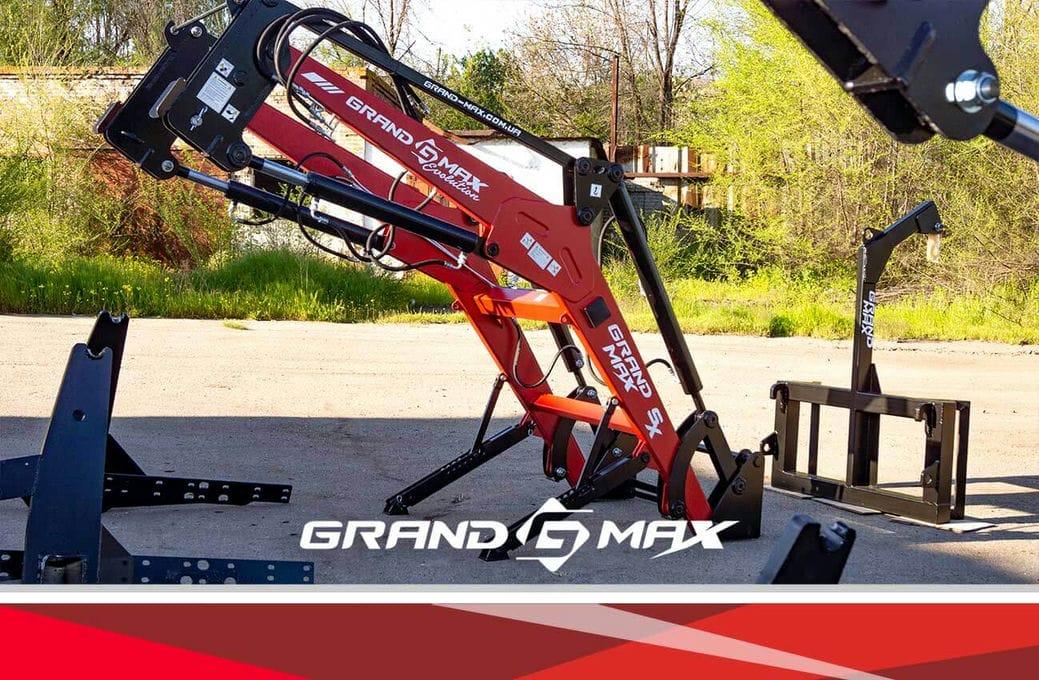 КУН фронтальный погрузчик Grand Max Evolution SX на МТЗ 80 с тягами на заднюю ось