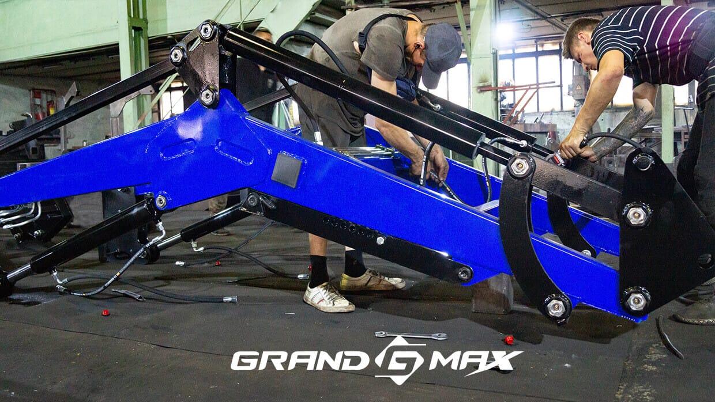 КУН на МТЗ 82 и МТЗ 80, ЮМЗ, Т-40 - фронтальный погрузчик Grand Max-MX